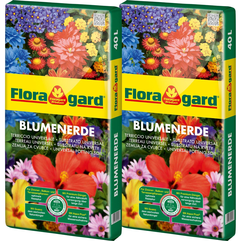 Floragard  Blumenerde 2 x 40 l