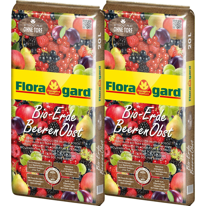 Floragard  Bio-Erde Beeren-Obst ohne Torf 2 x 20 l