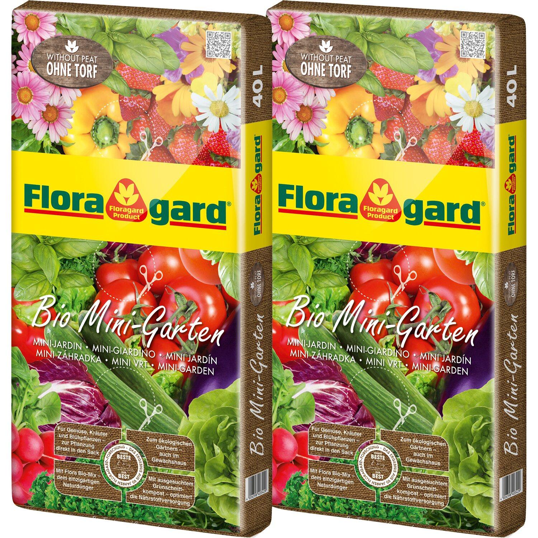 Floragard  Bio Mini-Garten ohne Torf 2 x 40 l
