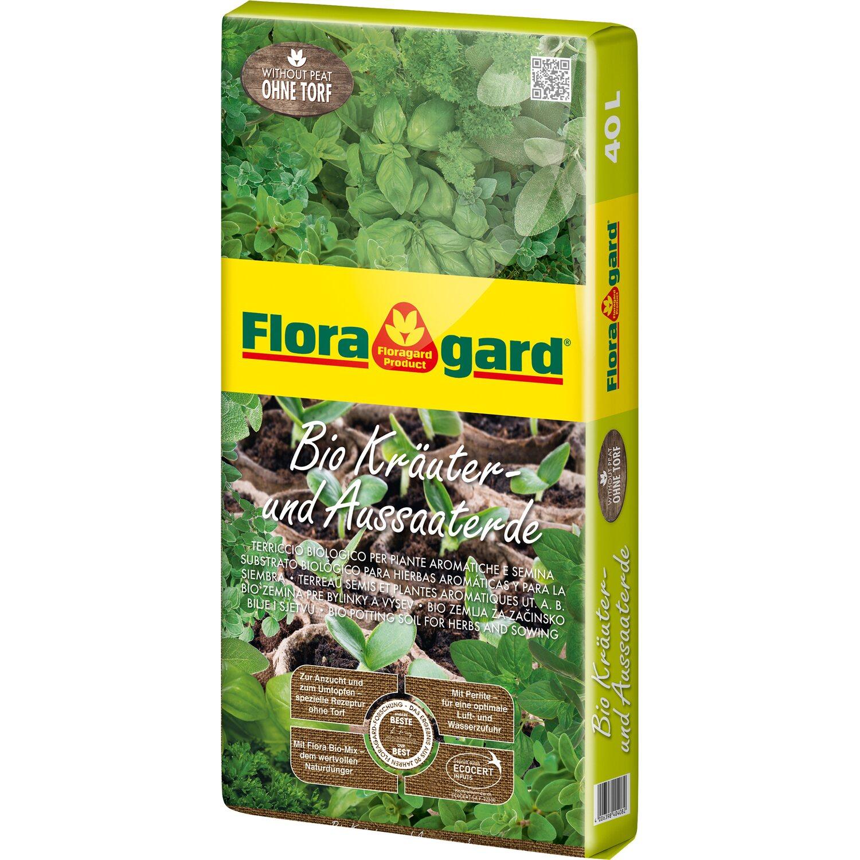Floragard  Bio Kräuter- und Aussaaterde ohne Torf 1 x 40 l