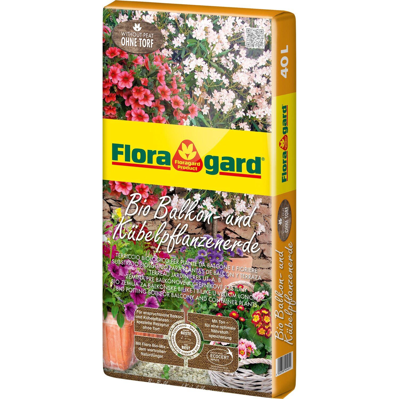 Floragard  Bio Balkon- und Kübelpflanzenerde ohne Torf 1 x 40 l