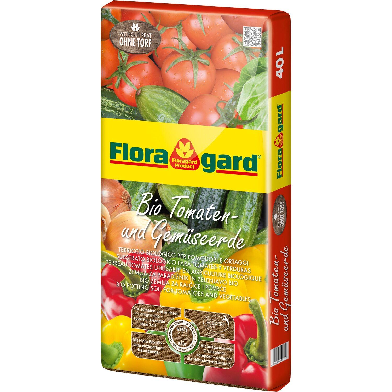 Floragard  Bio Tomaten- und Gemüseerde ohne Torf 1 x 40 l