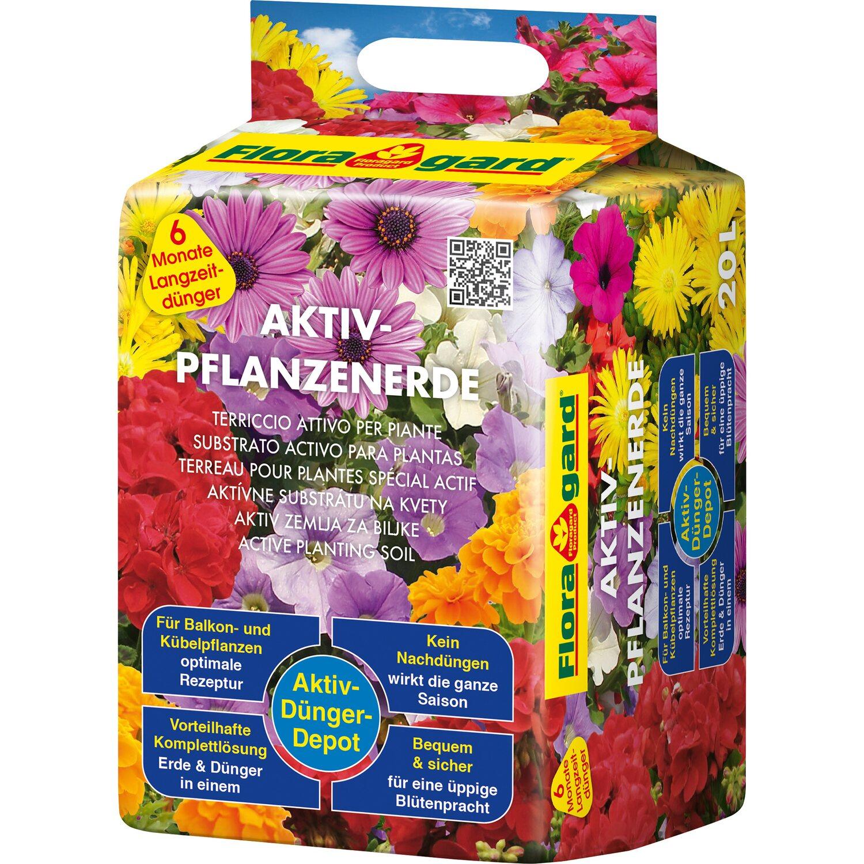 Floragard  Aktiv Pflanzenerde 1 x 20 l