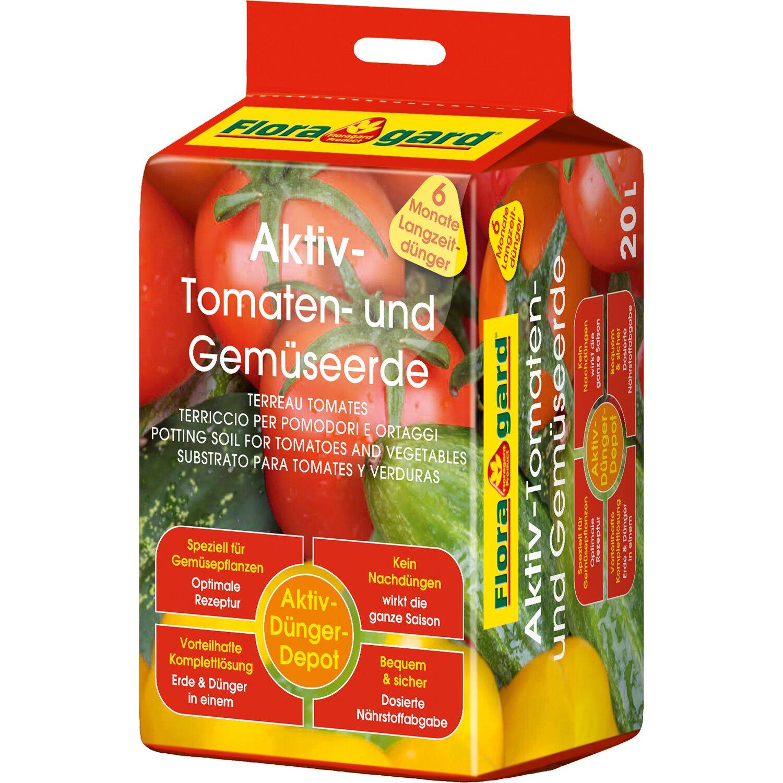 Floragard  Aktiv Tomaten- und Gemüseerde 1 x 20 l