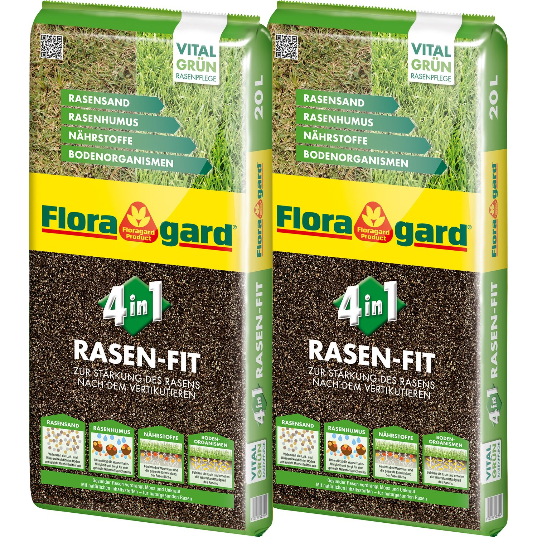 Floragard  4-in-1 Rasen-Fit Rasenerde 2 x 20 l