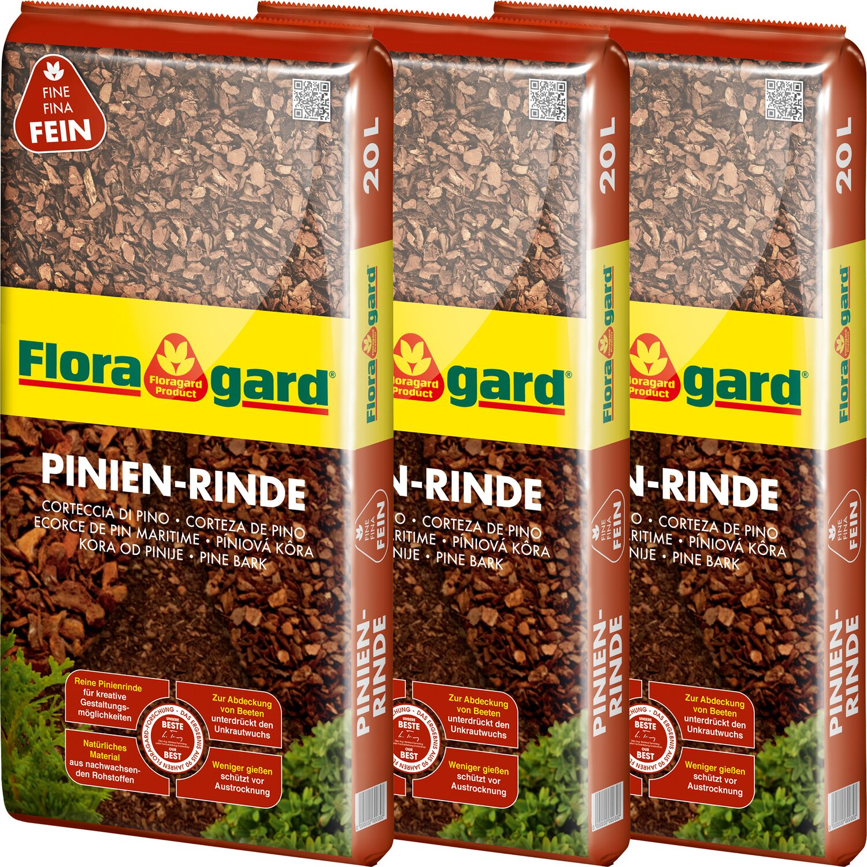 Floragard Pinienrinde Fein 2 bis 8 mm 3 x 20 l