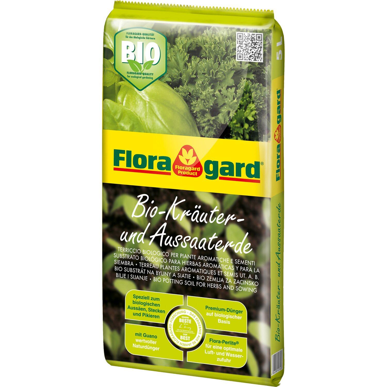 Floragard  Bio Kräuter- und Aussaaterde 1 x 5 l