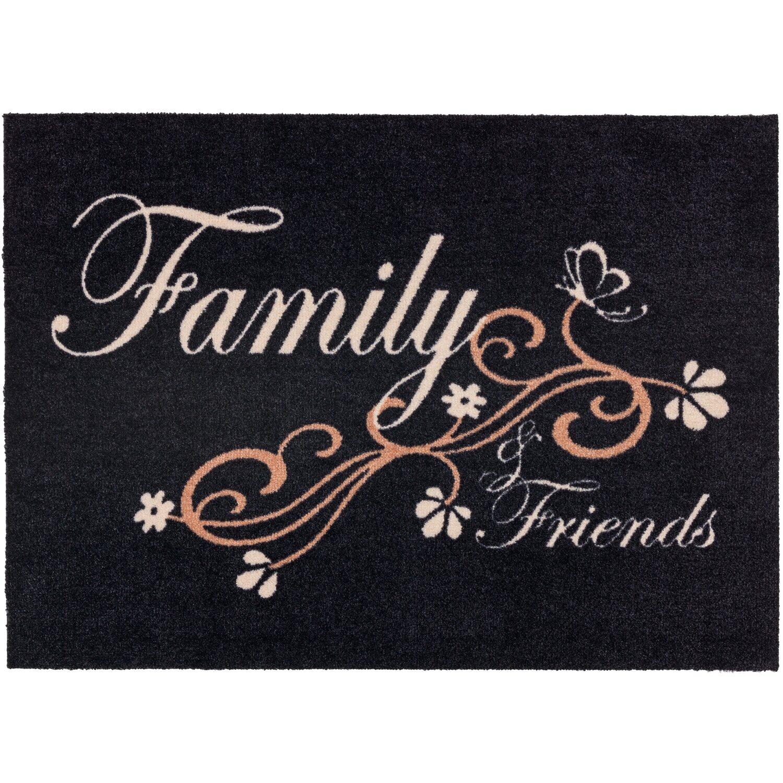 ASTRA -Kollektion Sauberlaufmatte Cardea Family Schwarz 50 cm x 70 cm