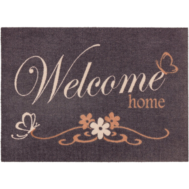 ASTRA -Kollektion Sauberlaufmatte Cardea Welcome Home Grau 50 cm x 70 cm