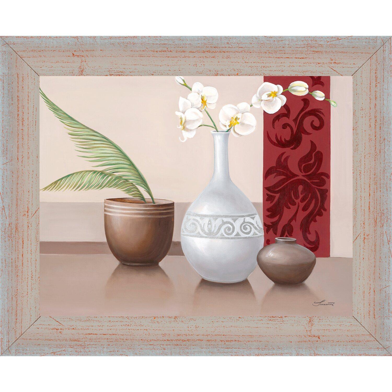 bild mit rahmen vasen und orchidee 32 cm x 38 cm kaufen bei obi. Black Bedroom Furniture Sets. Home Design Ideas