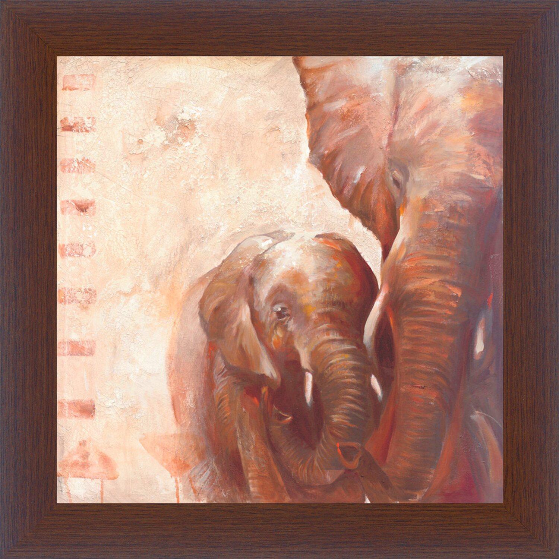 bild mit rahmen elefants 38 cm x 38 cm kaufen bei obi. Black Bedroom Furniture Sets. Home Design Ideas
