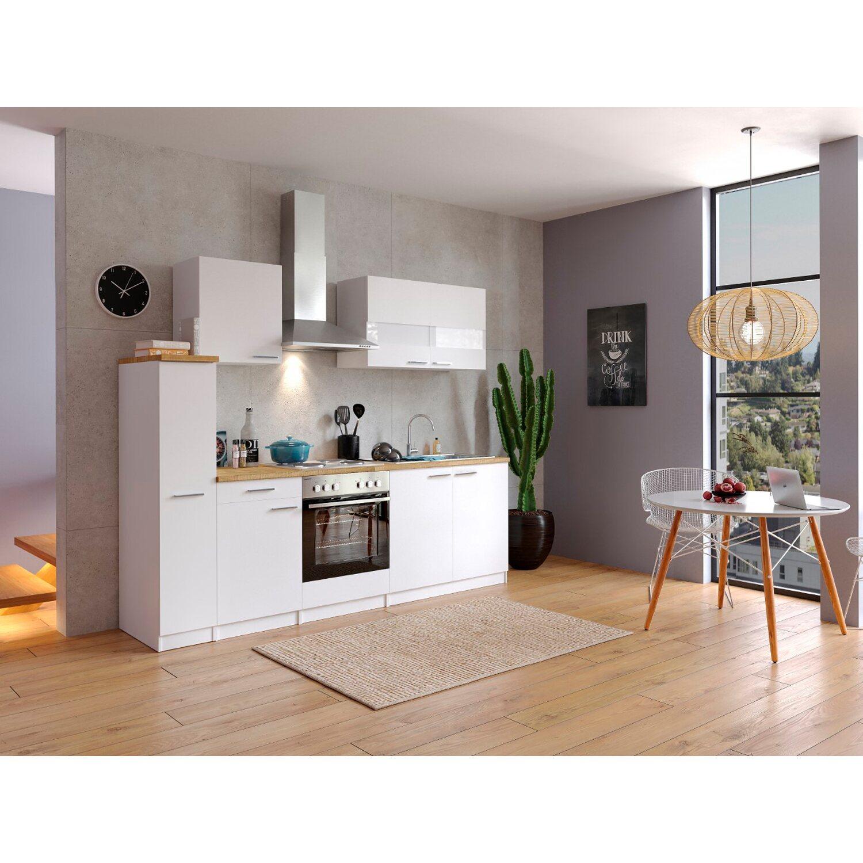 Respekta Küchenzeile Kb240ww 240 Cm Weiß Kaufen Bei Obi