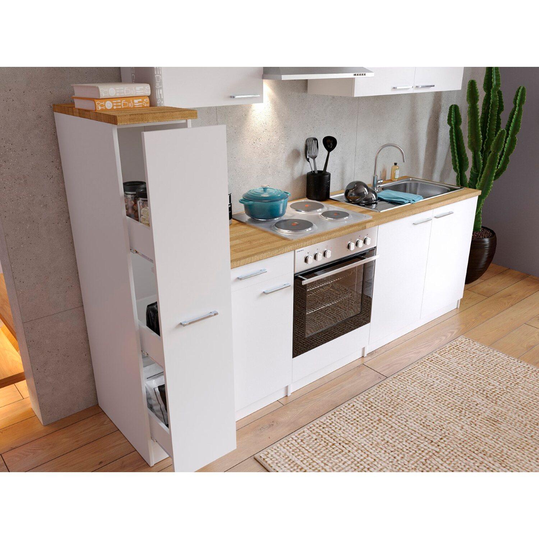 kchenzeile 240 cm breit amazing optifit kchenzeile mit egerte genf breite cm with kchenzeile. Black Bedroom Furniture Sets. Home Design Ideas