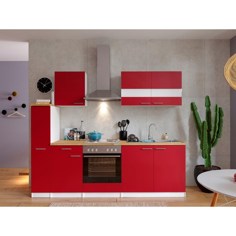 respekta k chenzeile kb240wr 240 cm rot wei kaufen bei obi. Black Bedroom Furniture Sets. Home Design Ideas
