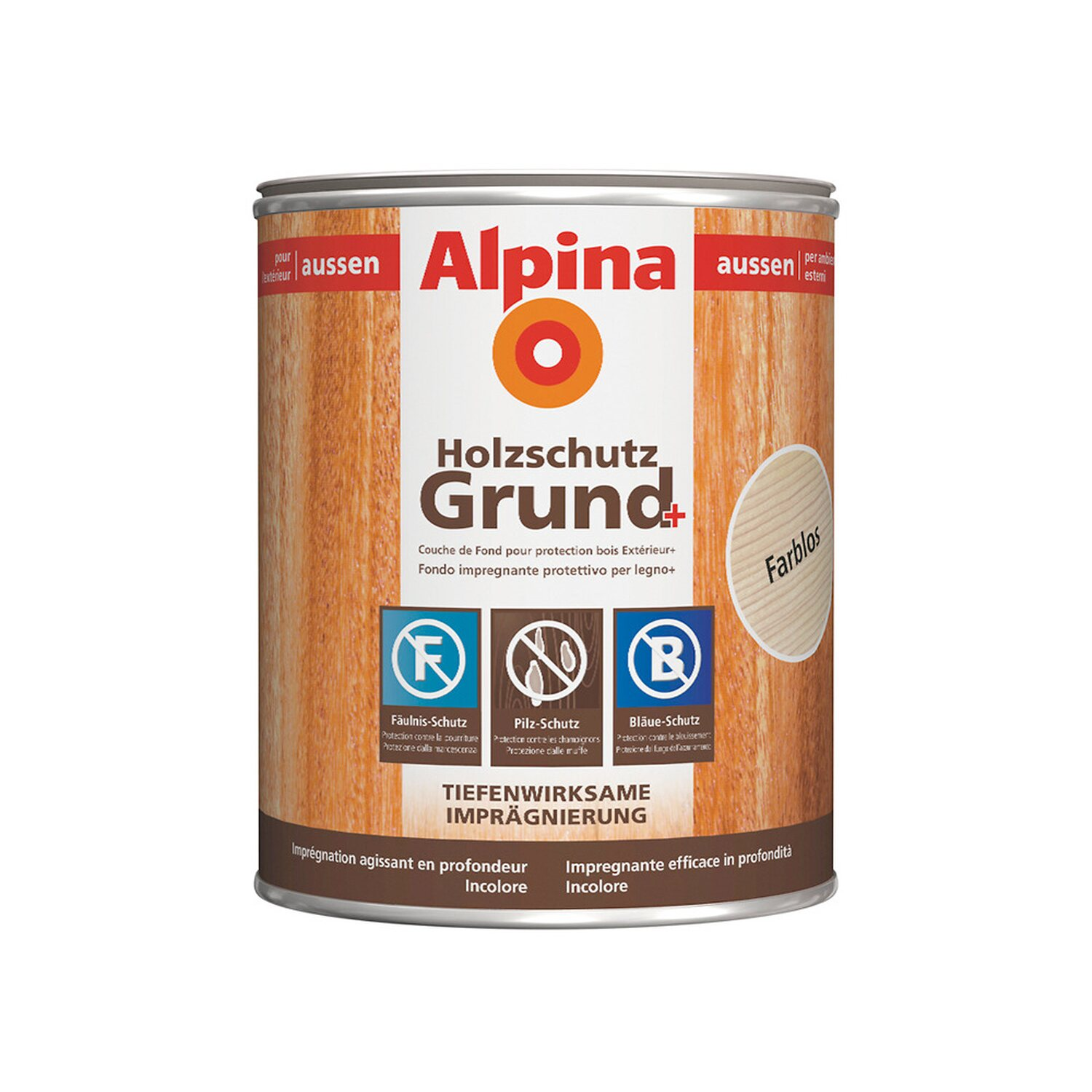 Alpina Holzschutz Grund Plus Transparent 2,5 l