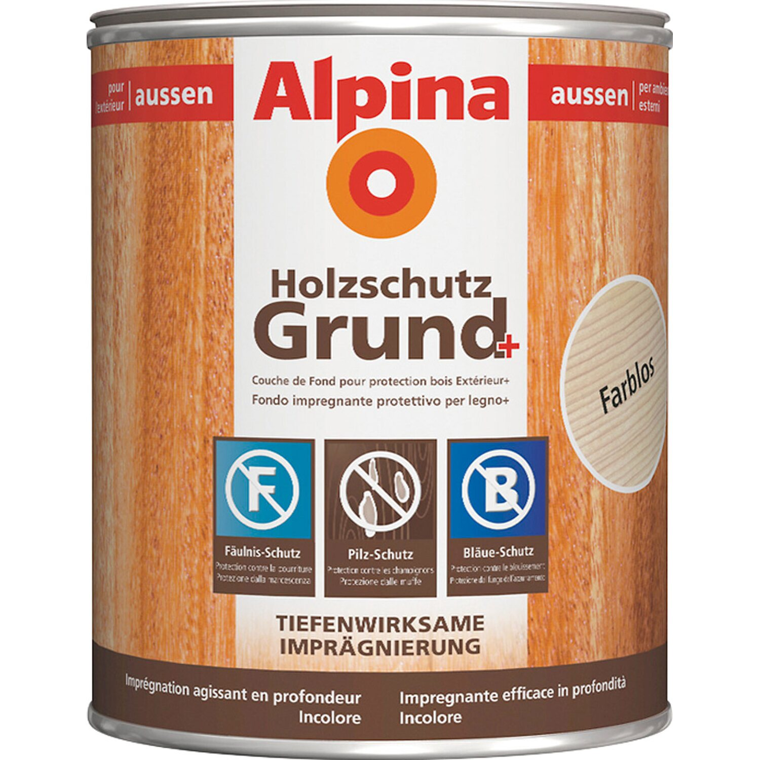 Alpina Holzschutz Grund Plus Transparent 750 ml