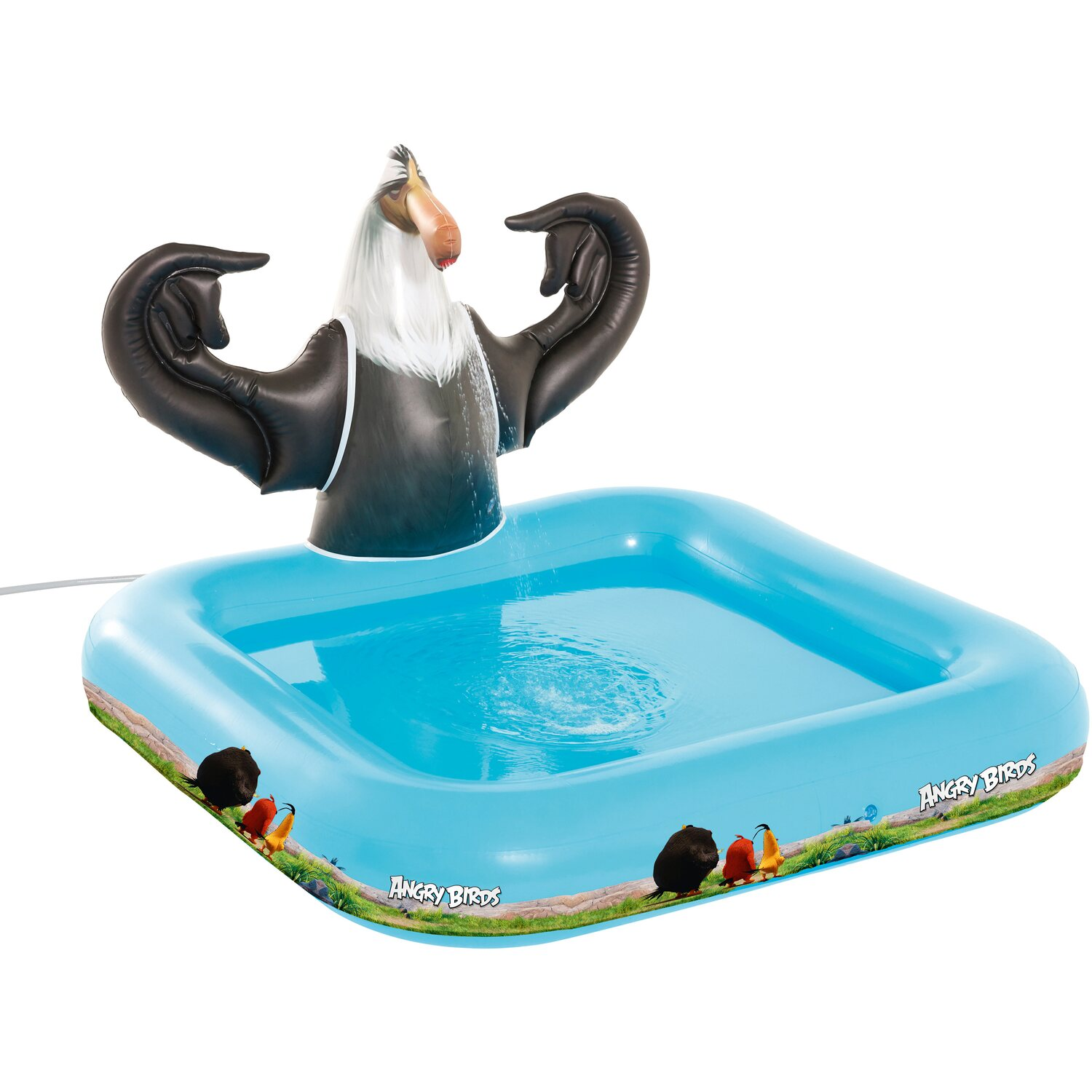Happy people pool angry birds mighty eagle 128 cm x 120 cm for Obi planschbecken