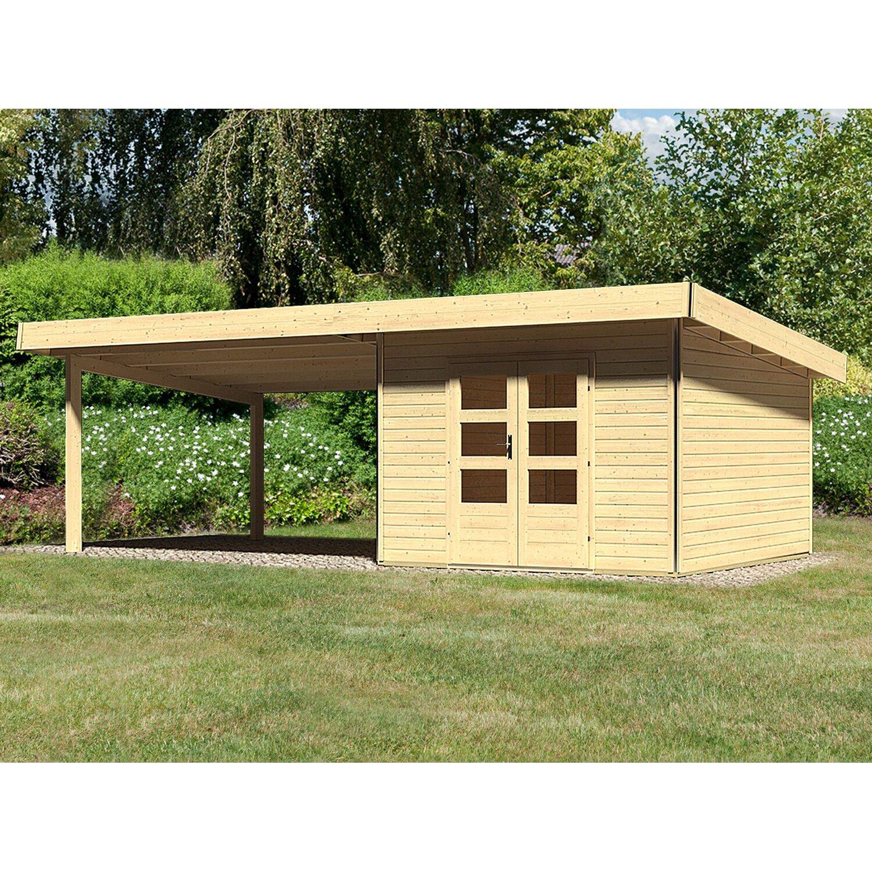 Holz Gartenhaus H Je 3 Natur Set Mit 4 M Schleppdach 705