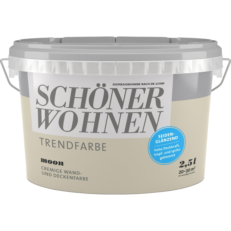 Farbkarte Wandfarbe Blau 2: Schöner Wohnen Trendfarbe Moon Seidenglänzend 2,5 L Kaufen