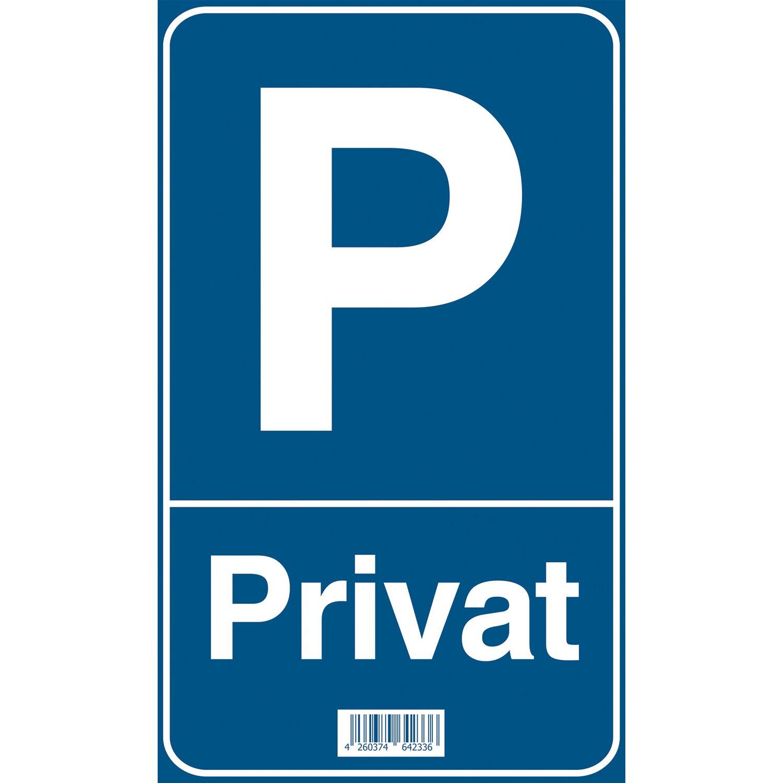 Schild P Privat 15 Cm X 25 Cm