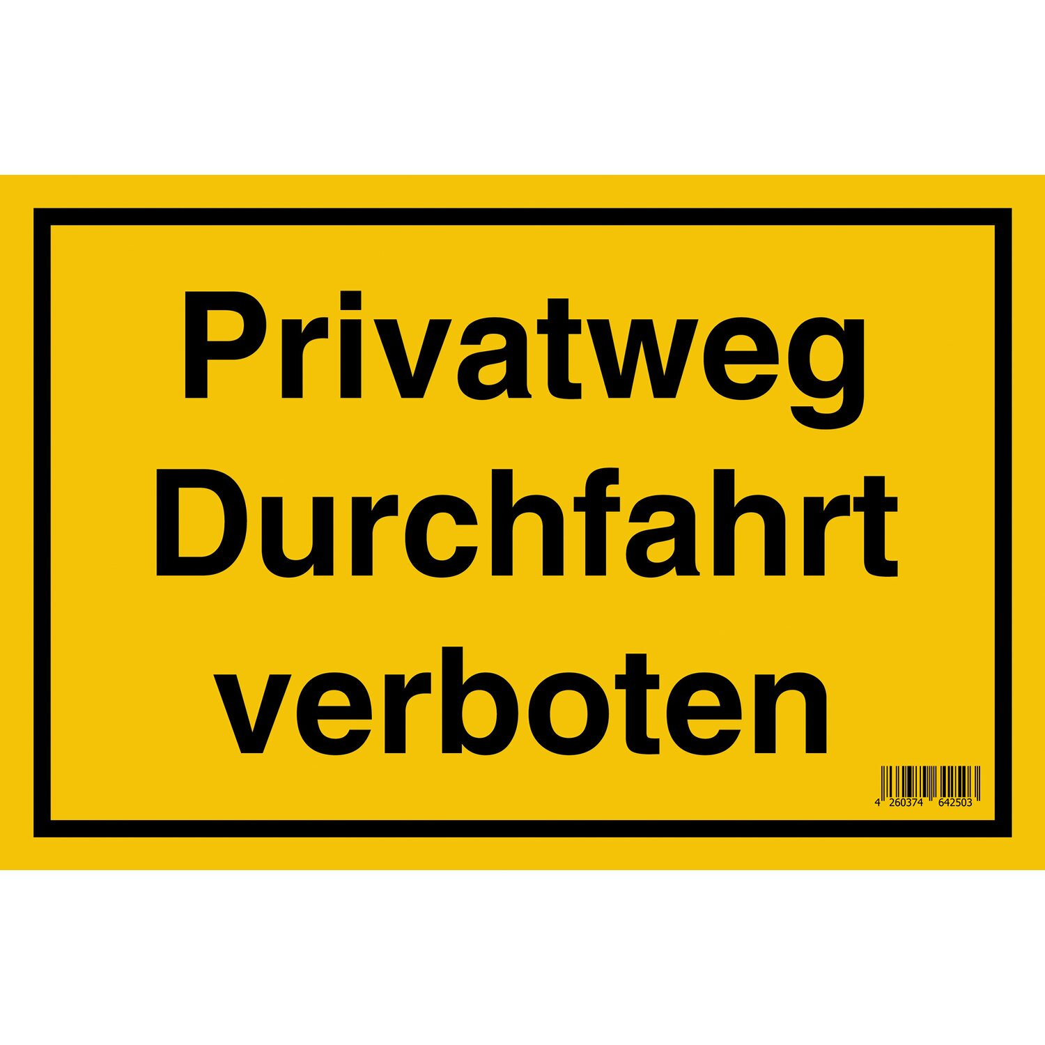 schild privatweg durchfahrt verboten 20 cm x 30 cm kaufen bei obi. Black Bedroom Furniture Sets. Home Design Ideas