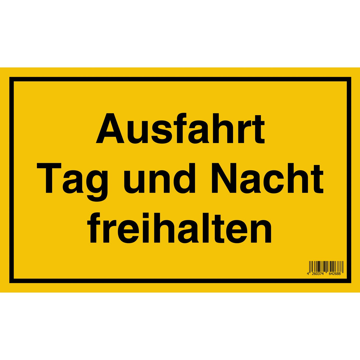 schild ausfahrt tag und nacht freihalten 25 cm x 40 cm. Black Bedroom Furniture Sets. Home Design Ideas