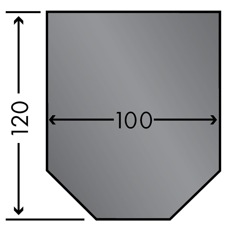 Caminos  Stahlbodenplatte 100 cm x 120 cm