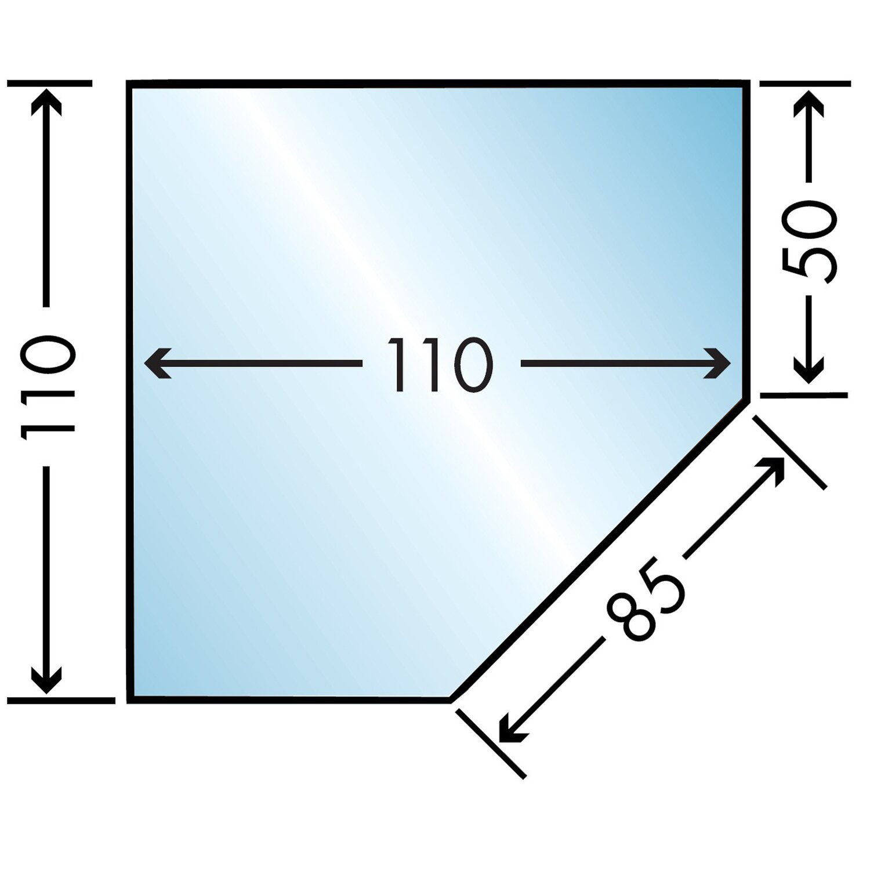 Caminos  Glasbodenplatte 110 cm x 110 cm