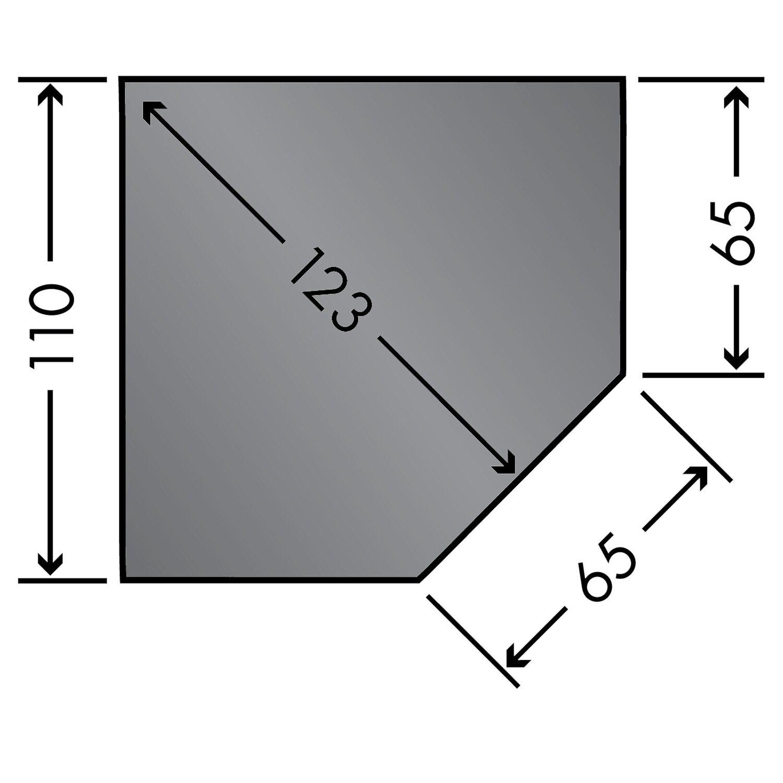 Caminos  Stahlbodenplatte 110 cm x 110 cm