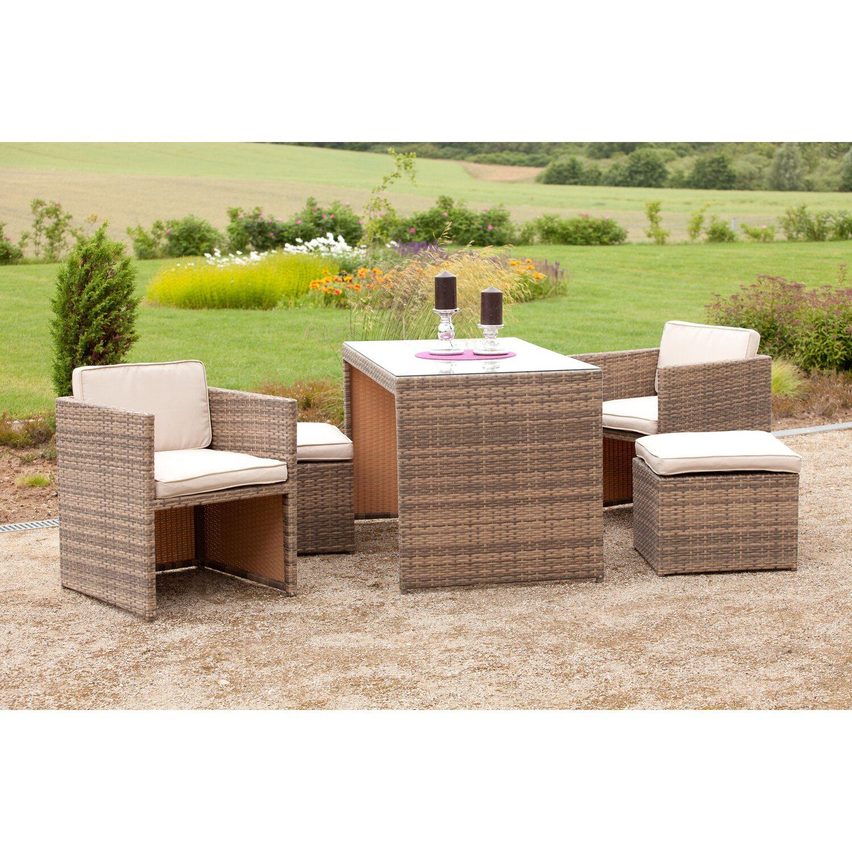 balkon set merano savannagrau 11 teilig kaufen bei obi. Black Bedroom Furniture Sets. Home Design Ideas