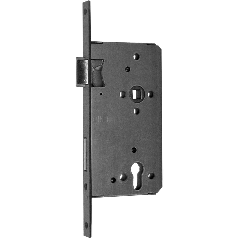 Bever Haustürschloss für Profilzylinder DIN links Silber lackiert