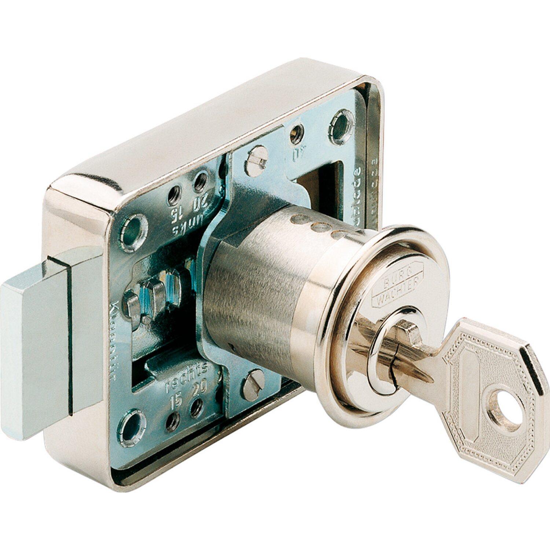 Schrankschloss 7,5 x 3,5 cm Möbelschloss mit Schlüssel