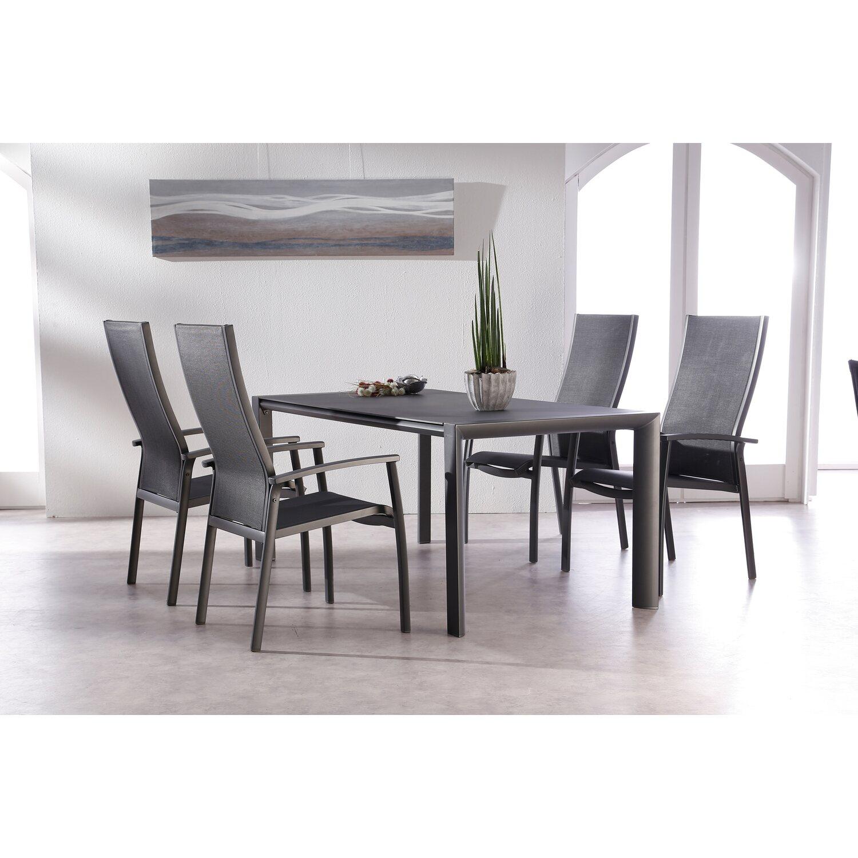 gartenm bel gruppe larino 5 tlg anthrazit kaufen bei obi. Black Bedroom Furniture Sets. Home Design Ideas
