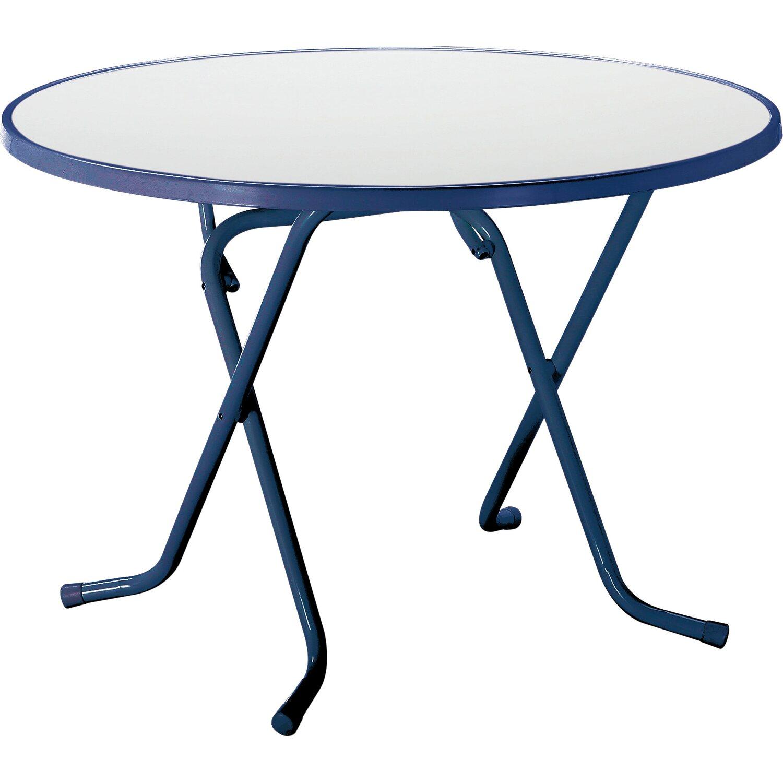 garten klapptisch rund 100 cm blau kaufen bei obi. Black Bedroom Furniture Sets. Home Design Ideas