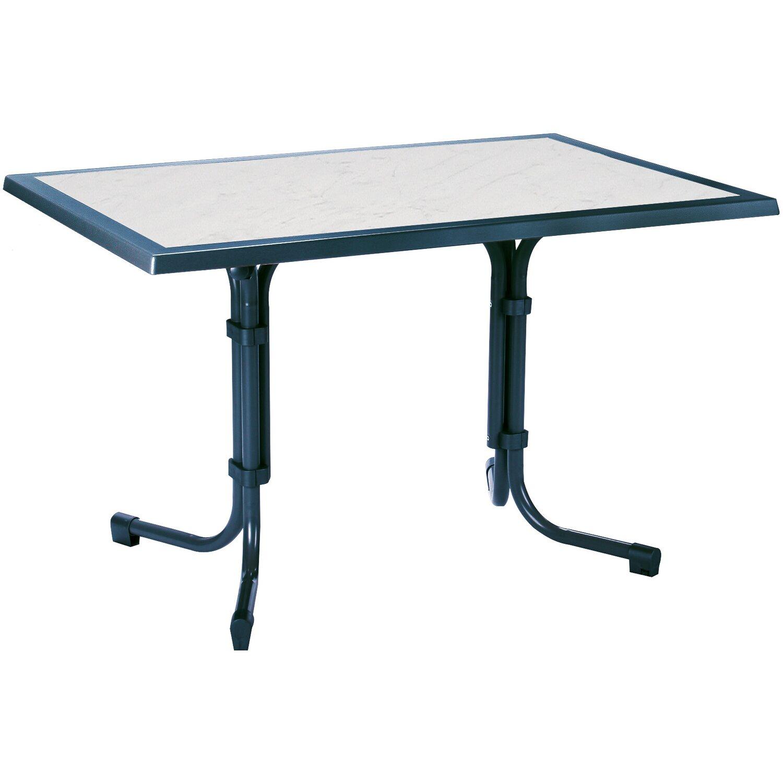 Tisch boulevard eckig 120 x 80 cm blau kaufen bei obi for Billiger tisch