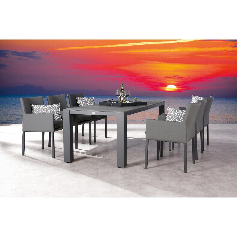 Gartenmoebel Set Alu Obi: Esstisch Lounge-Gruppe Tobago 7-tlg. Anthrazit Kaufen Bei OBI