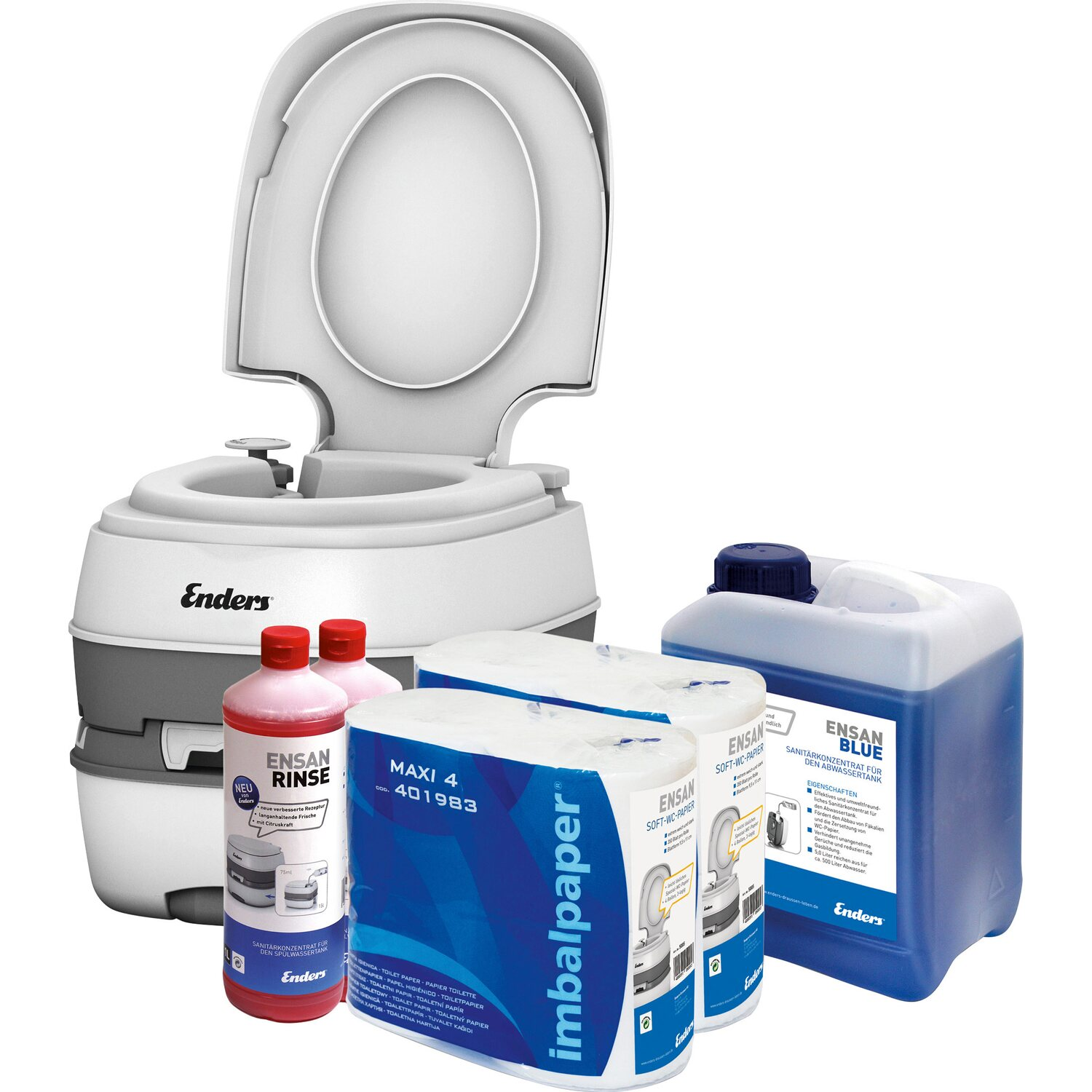 Enders Campingtoiletten Starter-Set WC Deluxe Blue