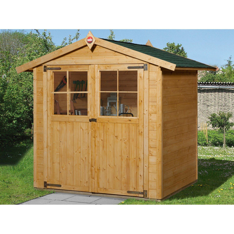 weka holz gartenhaus parma b eiche hell bxt 198 cm x 194 cm kaufen bei obi. Black Bedroom Furniture Sets. Home Design Ideas