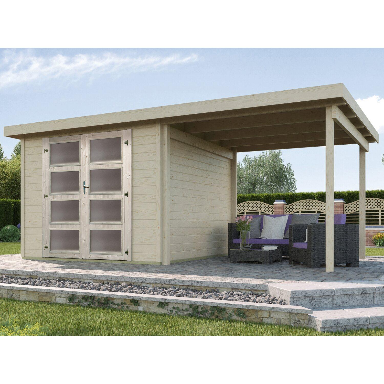 weka holz gartenhaus pesaro b natur 484 cm x 250 cm mit anbau 230 cm kaufen bei obi. Black Bedroom Furniture Sets. Home Design Ideas