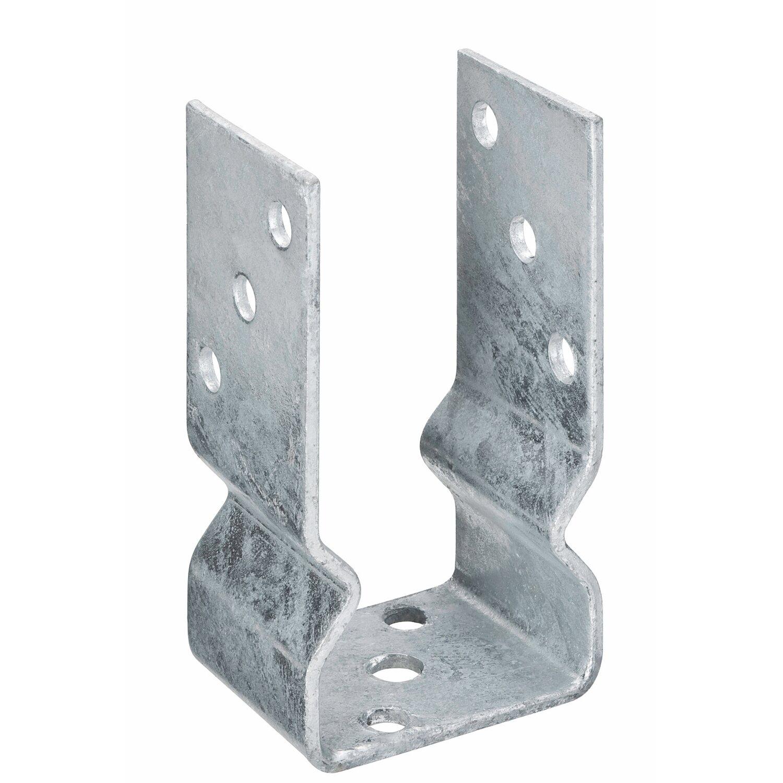 Pfostenträger U-Form 91 mm Pfostenhalterung Pfosten Halterung Träger Befestigung