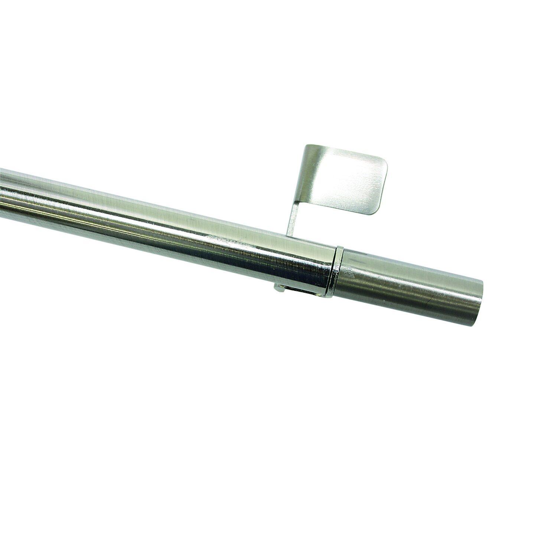 gardinia klemmstange press&go zylinder edelstahloptik 30 cm - 50 cm
