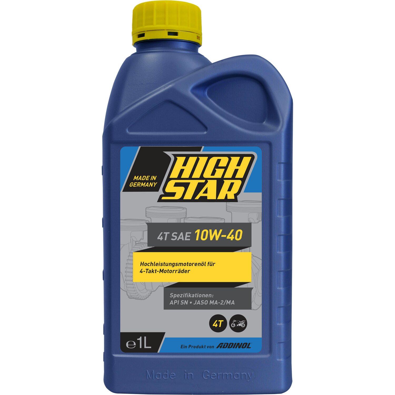 High Star 4T SAE 10W-40 Motorradöl 1 l