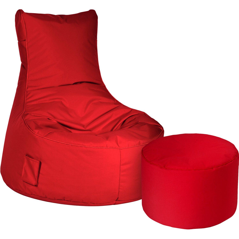 sitting point sitzsack set swing scuba und dotcom rot. Black Bedroom Furniture Sets. Home Design Ideas