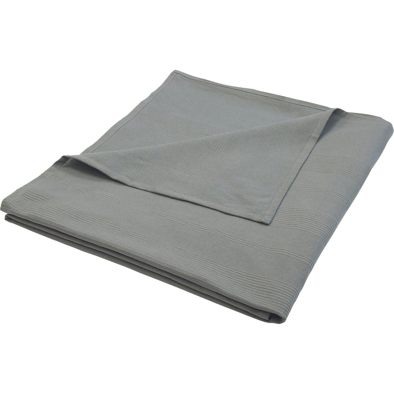 Baumwolldecke 150 cm x 250 cm Grau | Heimtextilien > Decken und Kissen > Baumwolldecken | Grau | Sonstige
