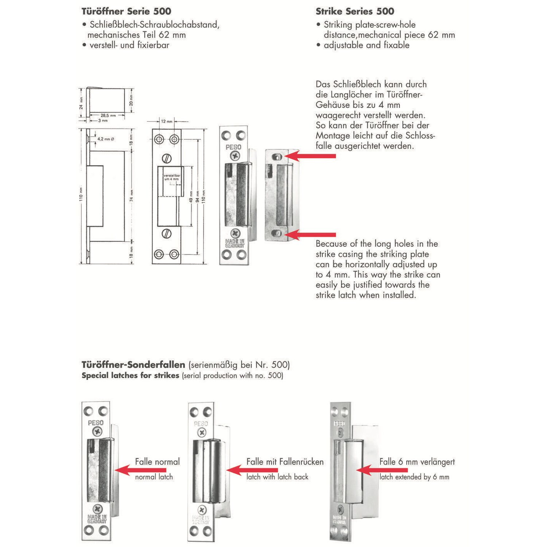 elektrischer t r ffner mit winkelblech mech entriegelung. Black Bedroom Furniture Sets. Home Design Ideas