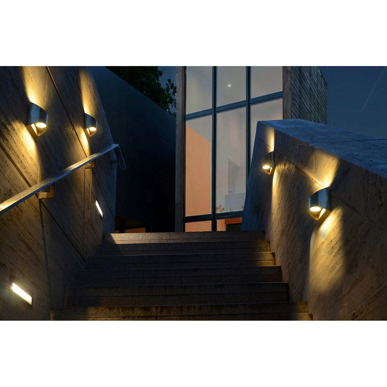 Aussenwandleuchten Edelstahl lutec led außenwandleuchte edelstahl eek a a kaufen bei obi