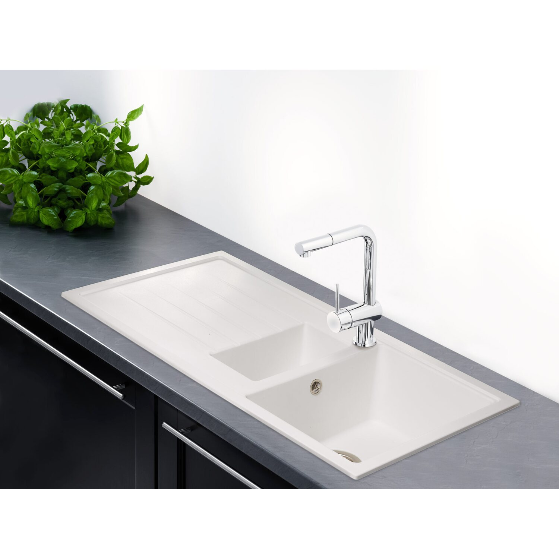 obi einbausp le quadra duo 100 granitverbundwerkstoff wei kaufen bei obi. Black Bedroom Furniture Sets. Home Design Ideas