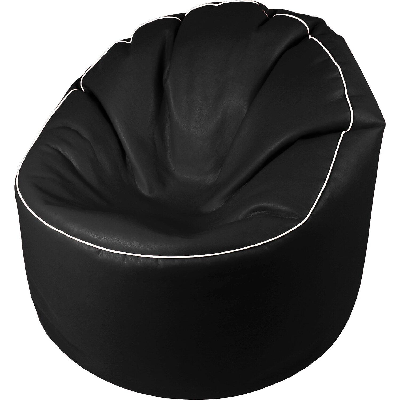 Sitting Point Sitzsack Tube Cosy Lederimitat Schwarz