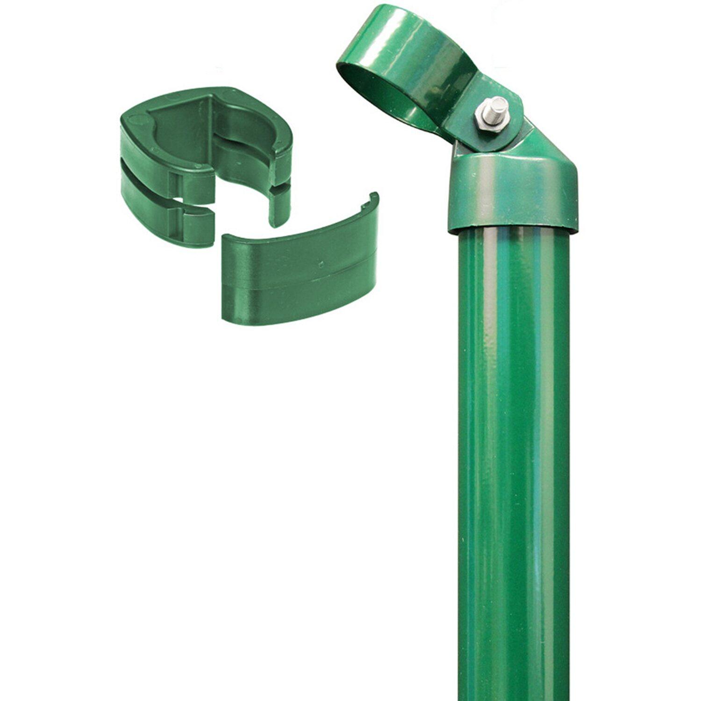 GAH Alberts Eck-Set für Zaun Fix-Clip Pro Grün 122 cm Hoch zum Einbetonieren