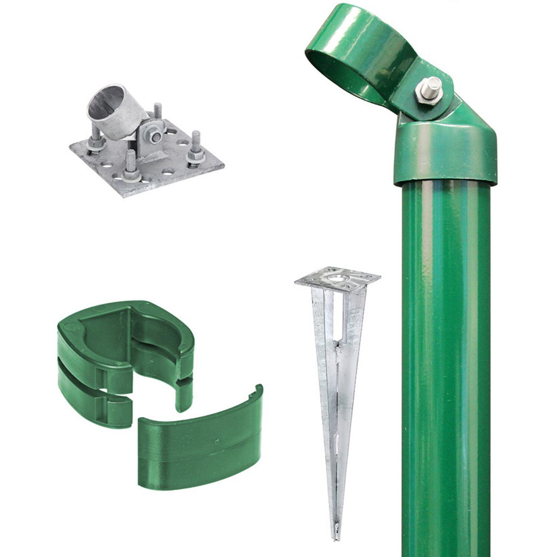 GAH Alberts Eck-Set für Zaun Fix-Clip Pro Grün 153 cm Hoch zum Aufschrauben